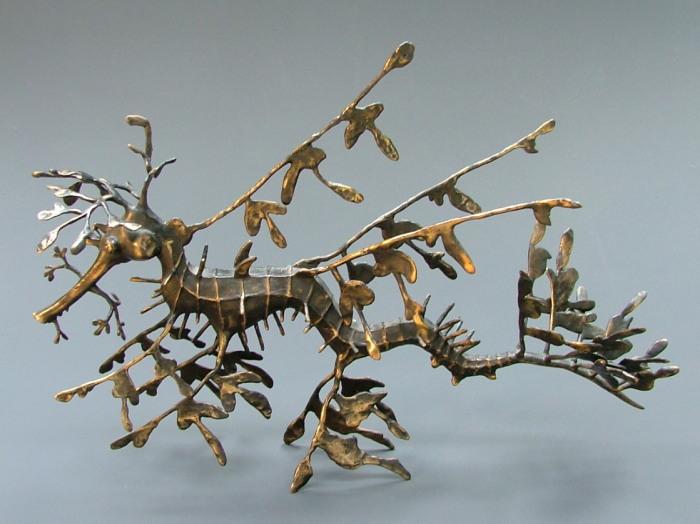 Hippocampe feuillu en bronze (Phycodurus eques)
